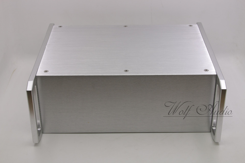 Silver Aluminium case chassis for Class A tube amp Preamplifier preamp enclosure