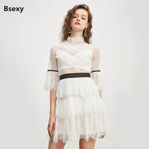 c1e75fe3ec16 Bsexy 2018 Spring Women White Lace Cute Short Party Dresses