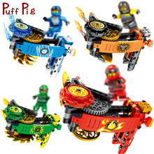 114+PCS Ninjaed Spinning Tops Gyro JAY KAI Figures Building Blocks Compatible Legoed Ninjagoes Snake Bricks Toys For Children(China)