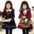Vestido Da Menina do bebê Crianças de Algodão de Moda 2017 Primavera Outono Meninas Vestido Com Longas Mangas Turn-down Collar Sólidos Preppy vestido