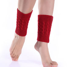 1pair Sexy Women Ladies Leg Warmers Autumn Winter Warm Foot Boots Socks Hemp Flowers Knit Toppers Boot Short Sock Cuffs AIC88(China)
