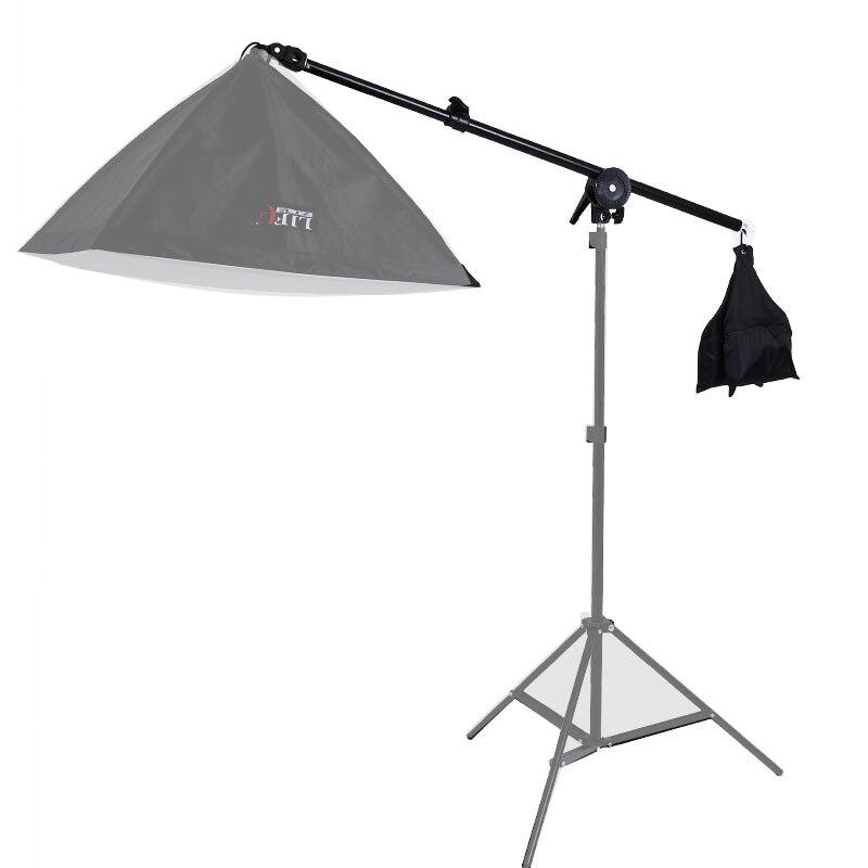 Hair Light Top Light Studio Telescopic Boom Arm 78-138cm W/ Weight Bag Sandbag