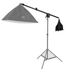 Bras télescopique de Boom de Studio léger supérieur de lumière de cheveux 78 138 cm avec le sac de poids sac de sable
