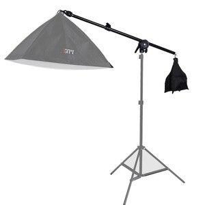 Image 1 - Bras télescopique de Boom de Studio léger supérieur de lumière de cheveux 78 138 cm avec le sac de poids sac de sable