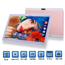 2018 Free shipping K900 Android 7.0 Octa Core 10 inch 1280*800 IPS 4G RAM 64GB ROM 3G WCDMA Tablet PC+Tempered protective film