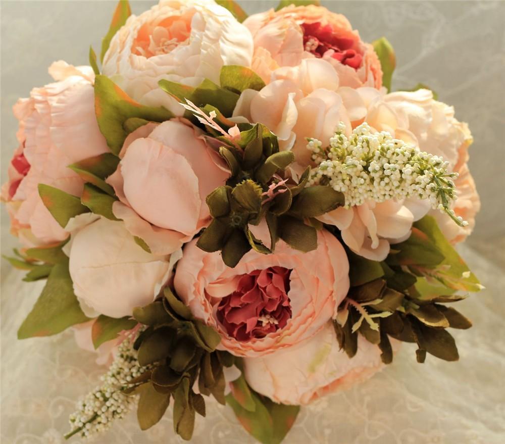 Artificial flower Wedding Bouquet Bouquet Bridal Bouquet Bridesmaid Wedding Decoration Event Party Supplies buques de noivas (1)