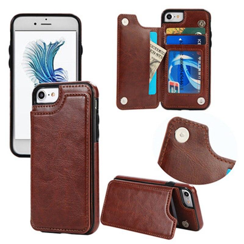 Retro PU Ledertasche Für iPhone 6 6 s 7 Plus Kartenhalter abdeckungs-fälle Für iPhone X 8 7 6 6 s Plus Leder Brieftasche fall