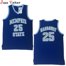 46aa7a5dd Jazz Vaiten Cheap Throwback Basketball Jersey Penny Anfernee Hardaway 25 Memphis  State College Basketball Jersey Blue Stitched