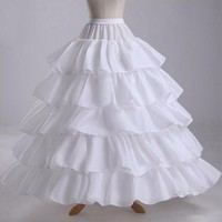 Long Crinoline Petticoats White Black Accessories Bridal Petticoats for Wedding Dress jupon anagua enaguas novia