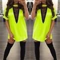 Женщины Летом Случайные Dress Коротким Рукавом Холтер женская Сексуальная Майка Dress Плюс Размер Платья Мини Dress Халат