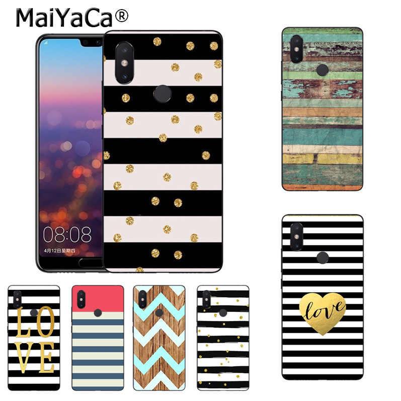 Maiyaca Modis Wood Cinta Zebra Garis Mewah Sarung Kasus Telepon untuk Xiaomi Mi 8 Se 6 Note2 Note3 Redmi 5 Plus Note4 5 Sarung