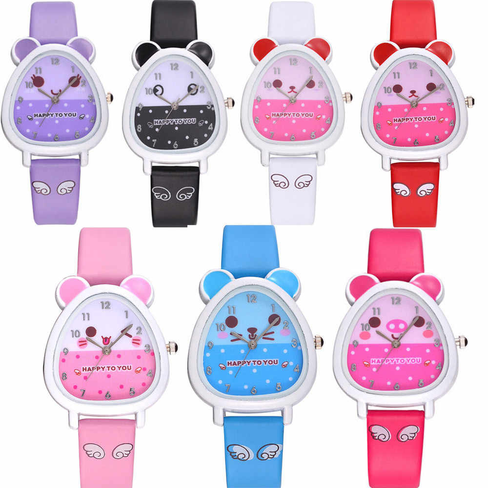 Lovely Animal Design Boy Girl Children Quartz Watch Kid's Birthday gifts Dress watch gifts for Children kids clock sport watch