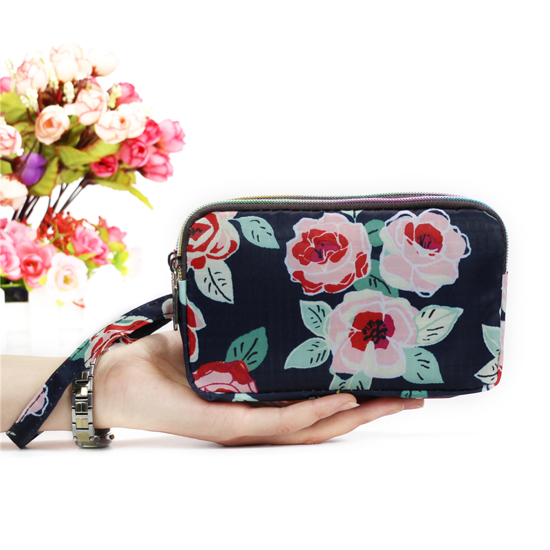 2019 With Wristband monederos para mujer Casual Women Clutch bag Small Money Bags 3 layers Lady Purse Girls Phone Hand Bag