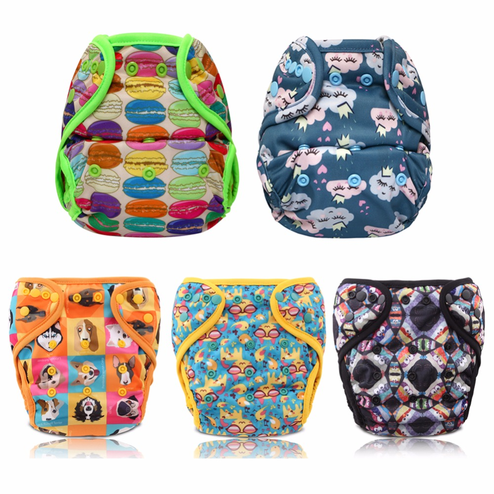 JinoBaby Cloth Diaper Cover Couche Lavable One Size for newborn to 15KG