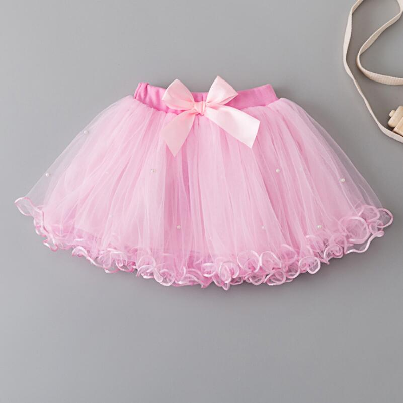 25a237ca7ca11 2018 Children Skirts Kids Baby Girl Multilayer Tulle Tutus Party Dance Bow  Pearls Cake Tutu Skirts Girls Princess Skirt JW3657-in Skirts from Mother    Kids ...