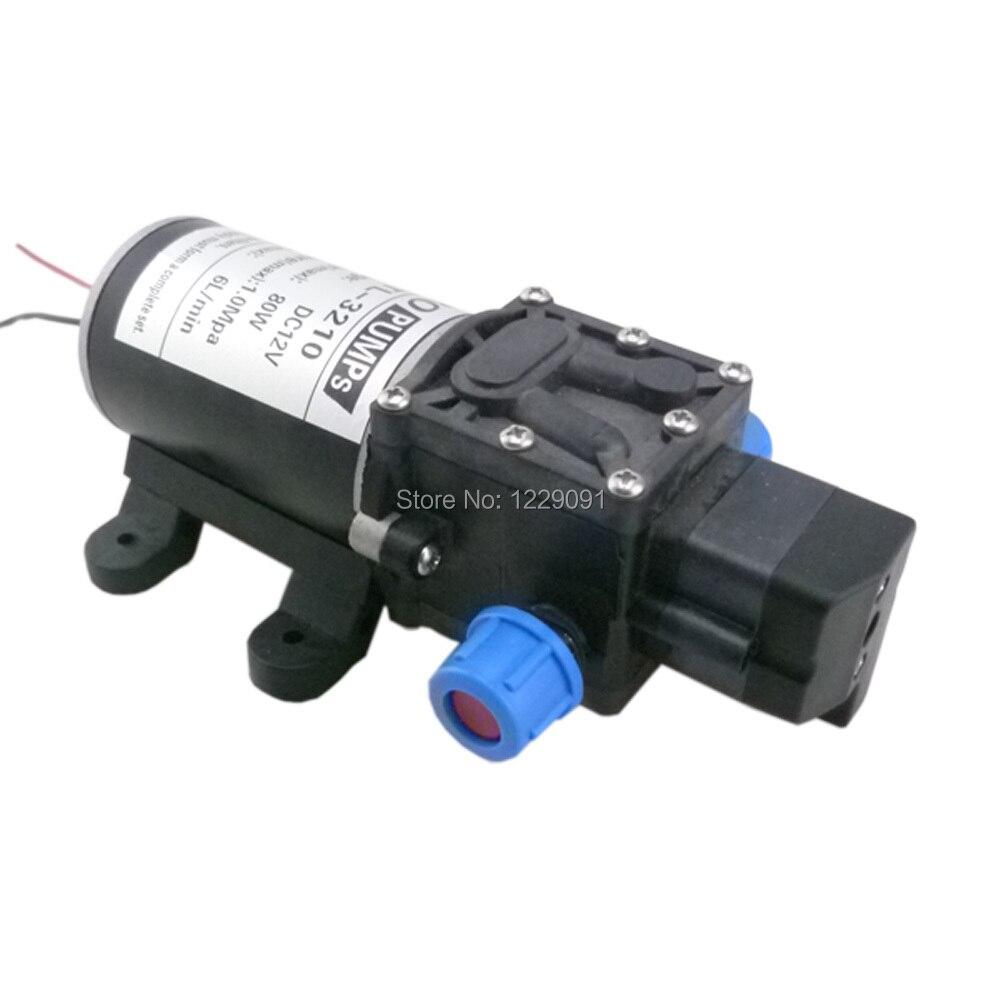 80W 6L/M DC 12v high pressure Diaphragm mini electric water pump 12v