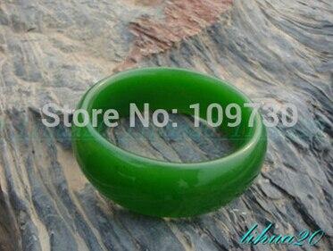 Chaude sell909158 Excellente tribu Large vert jade parti bijoux femmes de bracelet bracelet taille 60mm