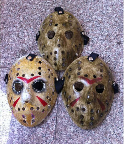 1 Pcs/lot Black Friday No 13 Jason Voorhees Freddy Hoki Festival Pesta Halloween Masquerade Masker (Ukuran Dewasa) 100 Gram