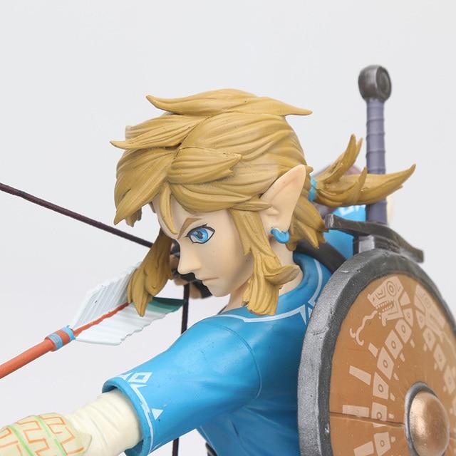 big size Link Zelda Legend of Zelda Breath of the wild Sky Ward Game Toy Zelda Sword Link Figma pvc action Figure toys 5