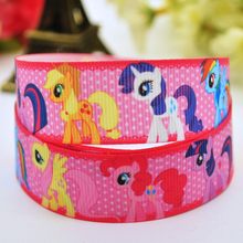 7/8'' (22mm) My Little Pony Cartoon Character printed Grosgrain Ribbon party decoration Satin Ribbons OEM X-00126 10 Yards