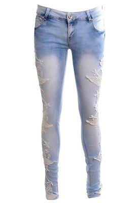 Sexy Womens Slim Fit Skinny Lace Crochet Jeans Designer Denim Trousers игра yako ферма m6218