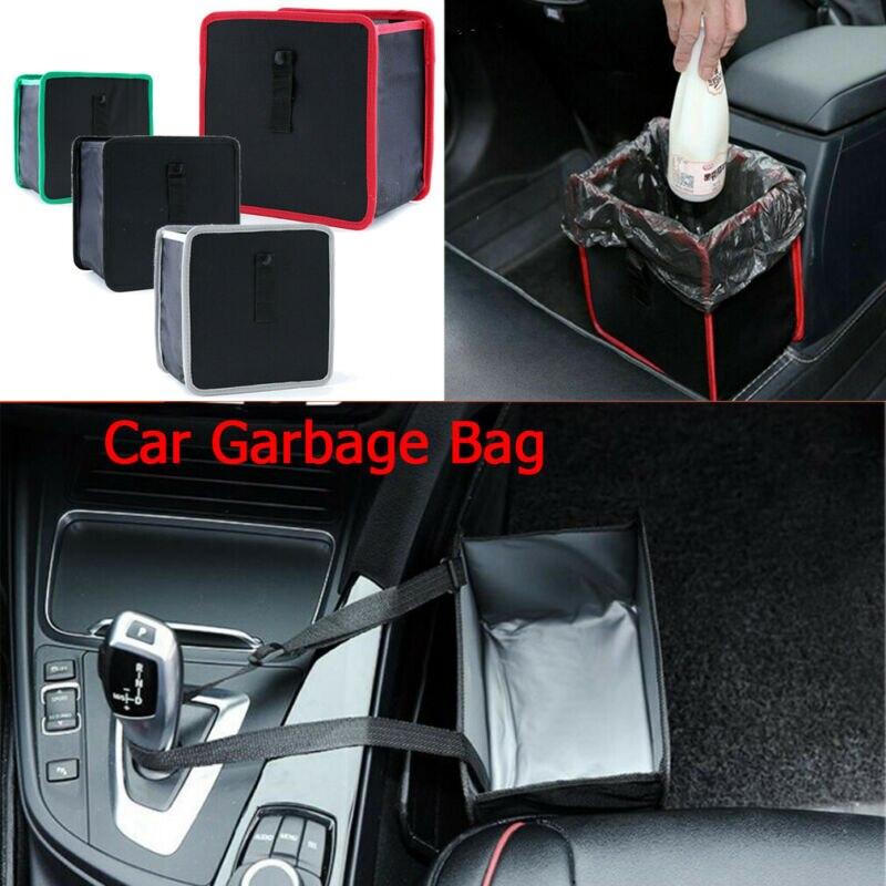 Car Trash Bin Waste Basket Storage Garbage Can Litter Leakproof Bag Organizers