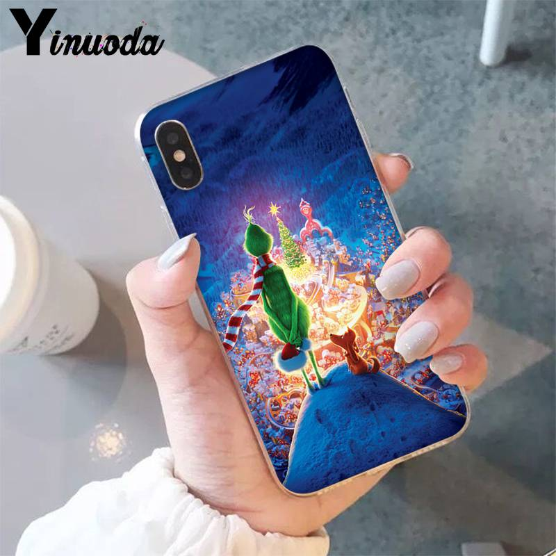 Yinuoda The Grinch Christmas Novelty Fundas Phone Case For Iphone 8 7 6 6s Plus X Xs Max 5 5s Se Xr 10 11 11pro 11promax