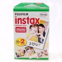 Genuine 20pcs Box Fujifilm Fuji Instax Mini White Film 20 Sheet Instant Photo Paper For