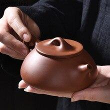 Набор фиолетовый; песок кунг-фу Чайник большой емкости фиолетовый; песок чайник+ 4 чашки кунг-фу чайная чашка полностью ручной работы Домашний Подарочный чайный набор