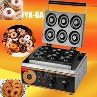 1PC Elektrische 220V/110V 6 loch RUNDE KUCHEN GRILL süße donut maker elektrische für kuchen bäcker waffel maker