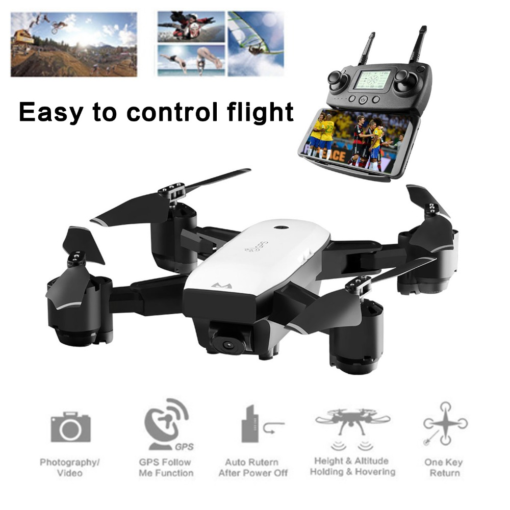 SMRC S20 Gyro Mini GPS RC Drone With 110 Degree Wide Angle Camera 6 Axles 2.4G Altitude Hold RC Quadcopter Portable RC Model ABSSMRC S20 Gyro Mini GPS RC Drone With 110 Degree Wide Angle Camera 6 Axles 2.4G Altitude Hold RC Quadcopter Portable RC Model ABS