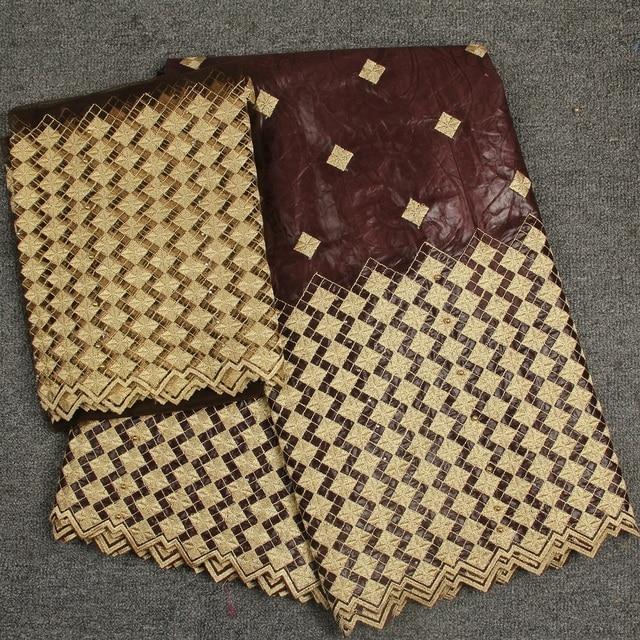 Thêu kẻ sọc với hạt bazin brode getzner phi vải lưu vực riche guinea thổ cẩm vải 5 + 2 bãi thụy sĩ vải tuyn ren khăn