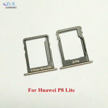 10Sets/Lot SIM Card Slot Tray Holder Adapter Repair Parts for Huawei P8 Lite