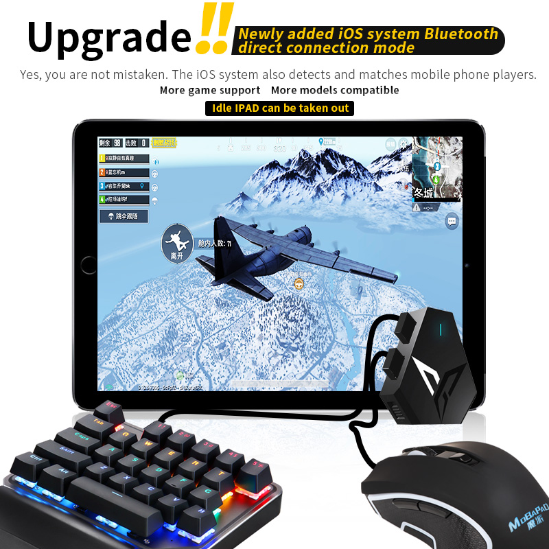 Flydigi Q1 Mobile Game Keyboard Mouse Converter via USB Interface and Wireless Bluetooth Connection for both Android and iOS(China)