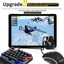 Flydigi Q1 komórkowy klawiatura do gier mysz konwerter za pośrednictwem interfejsu USB i bezprzewodowy Bluetooth połączenia zarówno dla Android i iOS