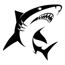 CK2676#15*14cm  Shark funny car sticker vinyl decal silver/black car auto stickers for car bumper window car decorations цена и фото
