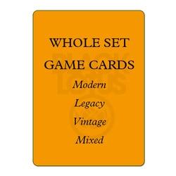 8,0 GANZE SET 56 teile/los Schwarz Kern Moderne/Legacy/Vintage/Landet Set Gemischt Schwarz Lotus TOP Qualität PROXY Spielkarten Brettspiele