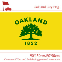 Free shipping Oakland City Flag Of California State 90*150cm 60*90cm Flag 3x5ft Custom 100d Polyester free shipping 90 150cm 60 90cm flag 100d custom polyester 3x5ft us santa barbara city flag of california state