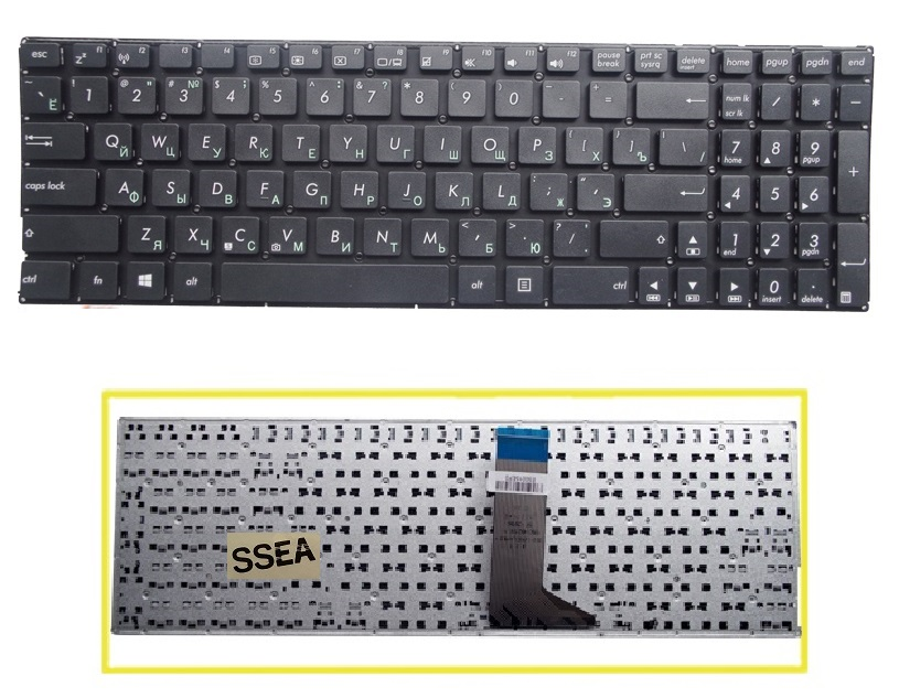 SSEA NEW Russian Keyboard no frame For Asus X551 X551C X551CA F550 F550V X552C X552E X554L X551M X551MA Laptop RU Keyboard