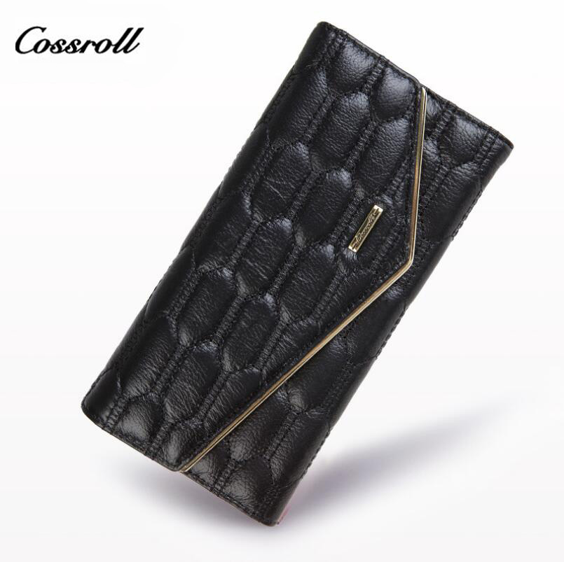 COSSROLL Lady's Purse Clutch Wallet Designer wallets Famous Brand Women Wallet Female Fashion Hasp Small Evening Purses Woman  cossroll flower embossing women wallets and purses trifold hasp wallet female long design clutch women s purse monedero mujer
