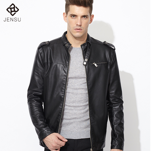 2016 Men Leather Jacket Fashion Jacket Jaqueta Couro Masculino Bomber Leather Jacket Sheepskin Coat Motorcycle Jacket Plus Size