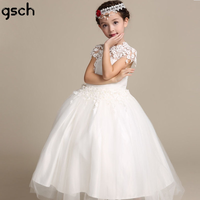Blume Mädchen Kleid Spitze Kinder Hochzeit Kleider knöchellangen ...