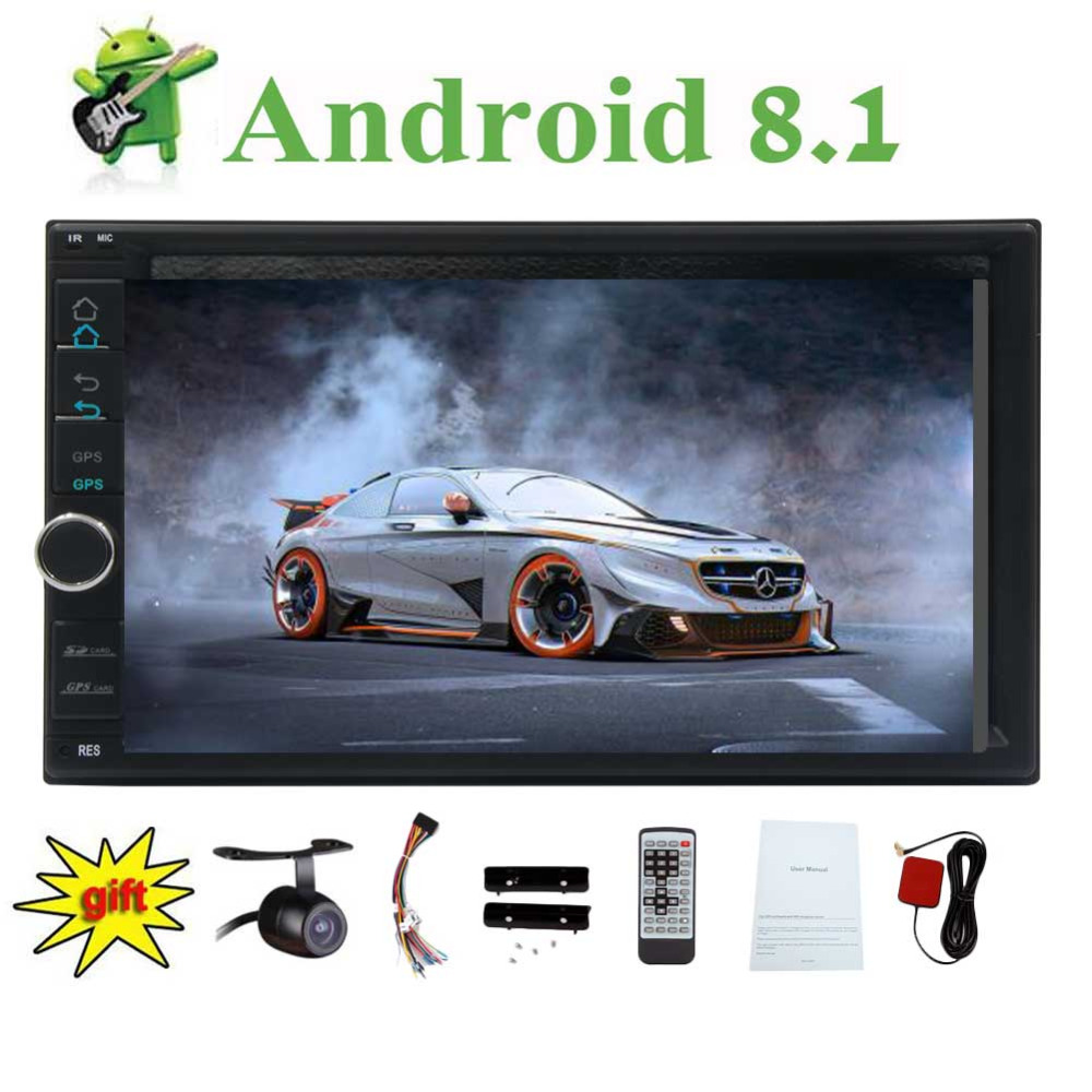 2 Din 2GB+ 32GB with Navigation, WiFi, Android Auto,Backup Camera,USB SD, AUX, 7 inch Touch Screen EinCar Double din Android 8