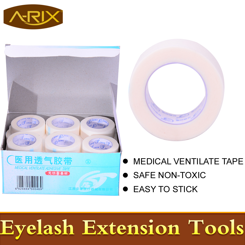 24pcs Medical Ventilate Adhesive Tape for eyelash extension High Quality non-woven tape professional makeup tools A-RIX Brand