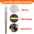 Free Shipping New Arrival Manual Tattoo Permanent Makeup Eyebrow  Microblading Phibrows Handtool Pen with U18 Needle Blade