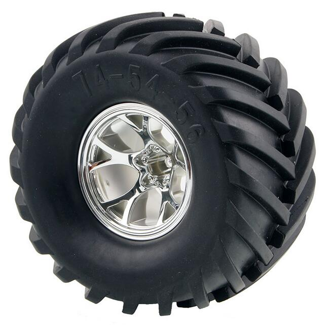 Truck Wheels And Tires >> 4pcs Hsp Hpi 1 10 Rc Monster Truck Wheels Tyres Tire 3003 74 54 56