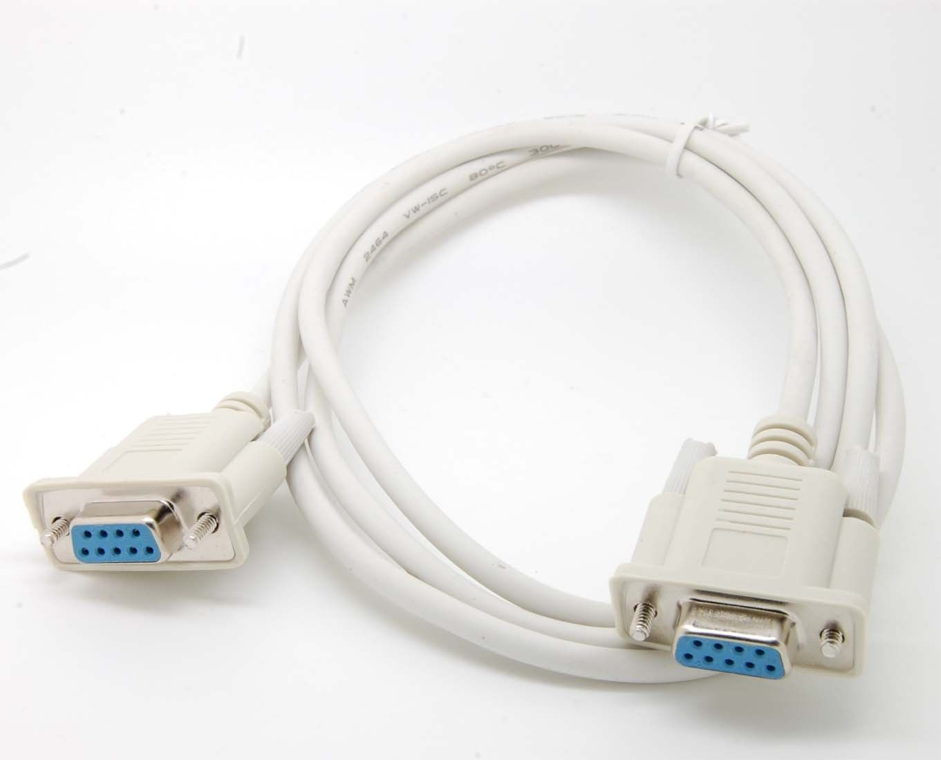 10pcs Serial RS232 Null Modem Cable Female to Female DB9 5ft direct connection