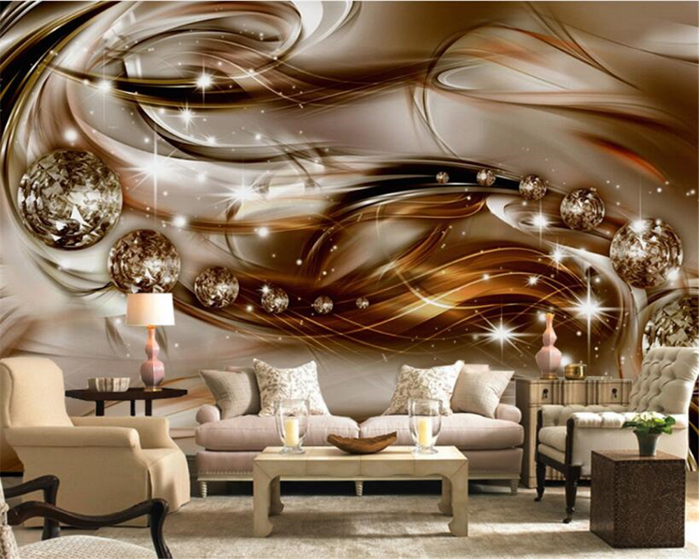 beibehang 3D papel de parede European Style Precious Silk Diamond Living Room TV wallpaper for walls 3 d wall papers home decor beibehang chinese pvc deep embossed papel de parede 3d wall paper roll living room mural wallpaper for walls 3 d home decoration