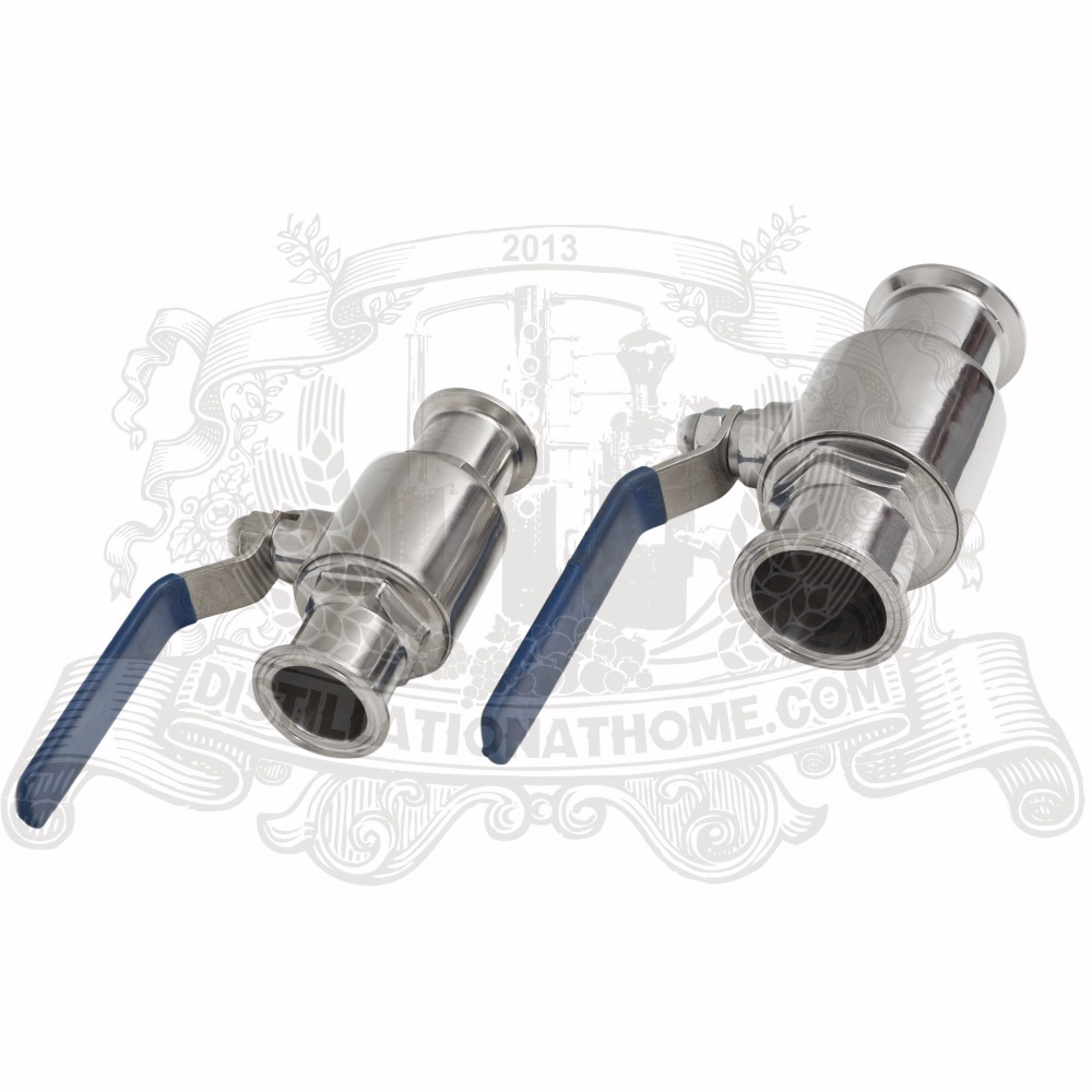 "3/4 "" - 4"" mm stainless sanitary tri-clamp  ball valve SS304"