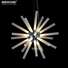 Suspensión moderna LLEVÓ Luces Colgantes Forma Redonda Barra de Loft Industrial LED Lámparas de Techo Para la Sala de estar Decoración Del Hotel de Iluminación